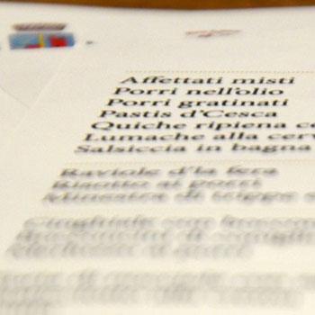 stampa menu carta a olio