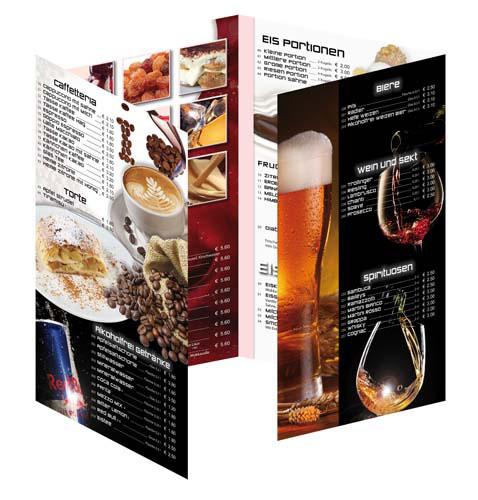stampa menu plastificato